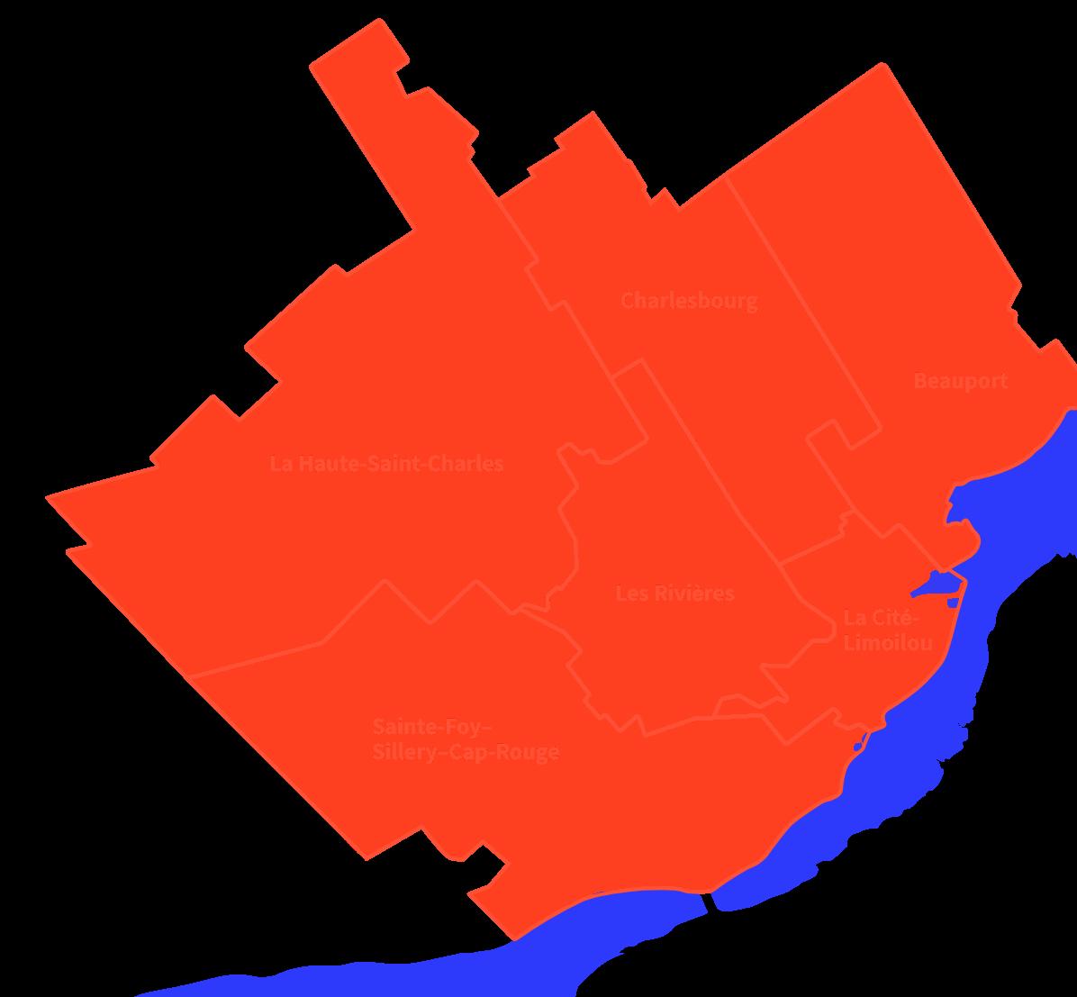 Image carte arrondissements ville Québec