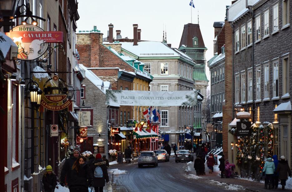 Photo vieux Québec pendant l'hiver